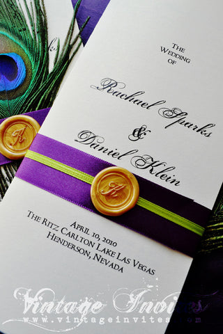 The Rachael Wedding Programs