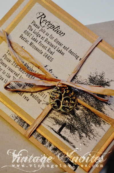 The Jennifer Rustic Twine Wedding Invitation