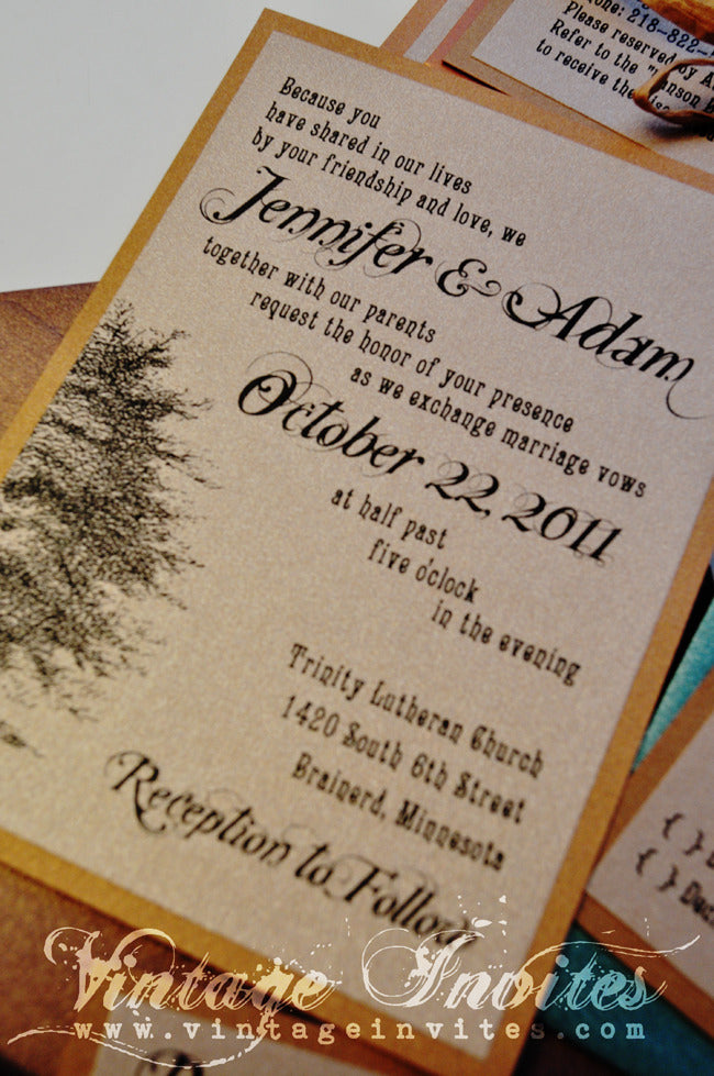 the jennifer rustic twine wedding invitation - Rustic Vintage Wedding Invitations