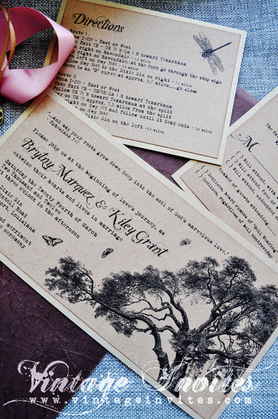 The Rosa Rustic Wedding Invitation