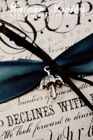 The Philippa - The Winter Edition- Vintage Wedding Invitation