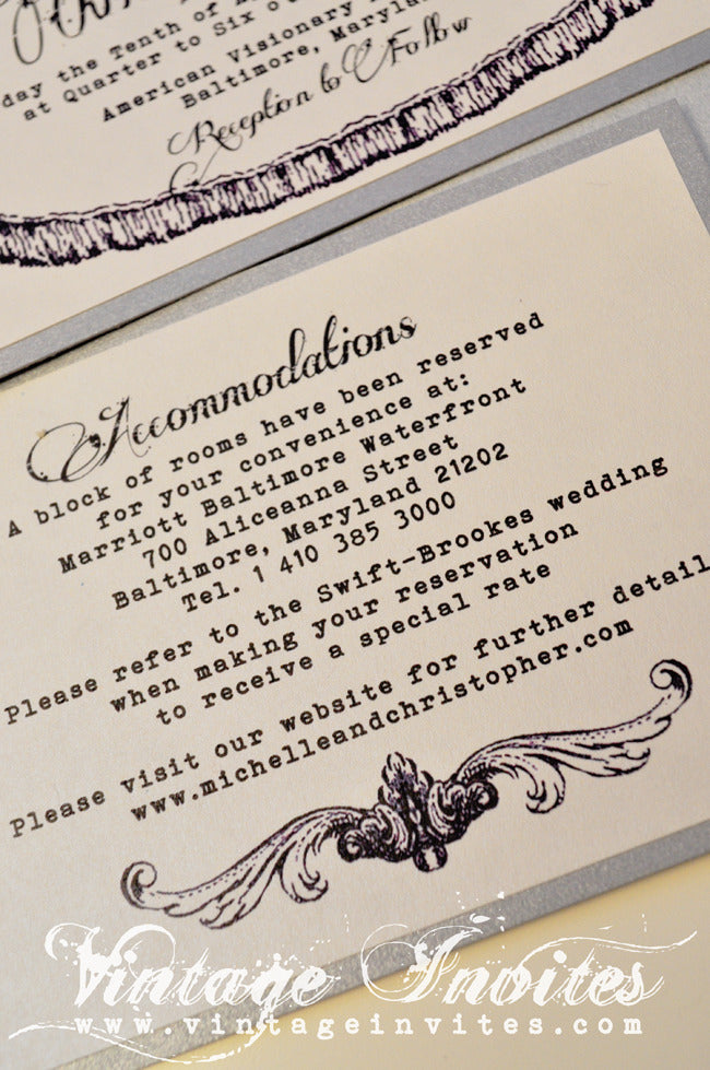 Vintage Wedding Love - Vintage Invites - Wedding Invitations for ...