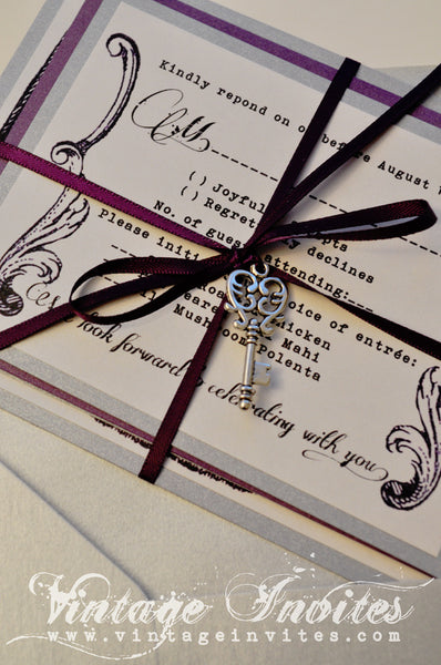 The Lilliana Victorian Vintage Wedding Invitation