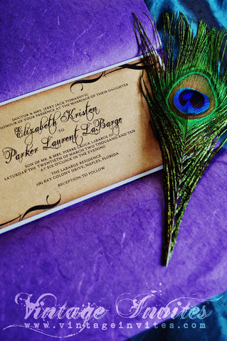 The Elizabeth Vintage Wedding Invitation