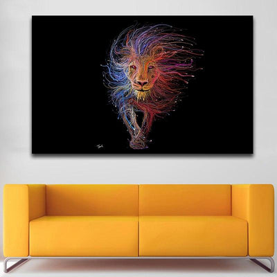 Abstract King Canvas Prints Muurvulling.nl