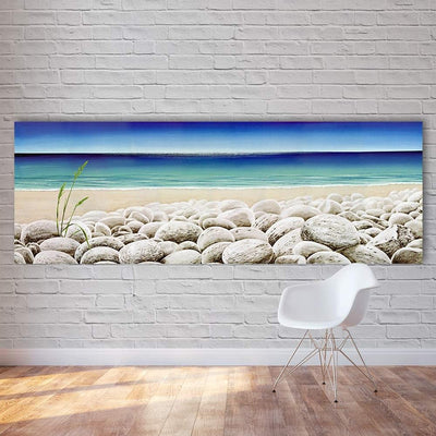 Paved Seashore Canvas Prints Muurvulling.nl