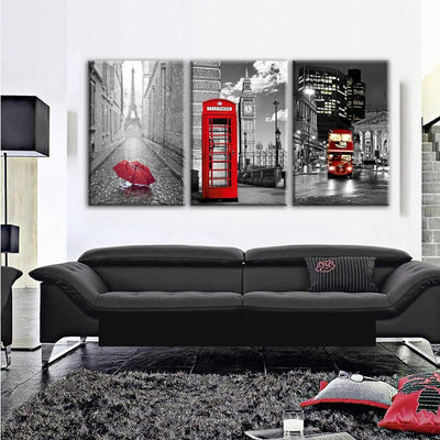 From Paris to London Canvas Prints Muurvulling.nl