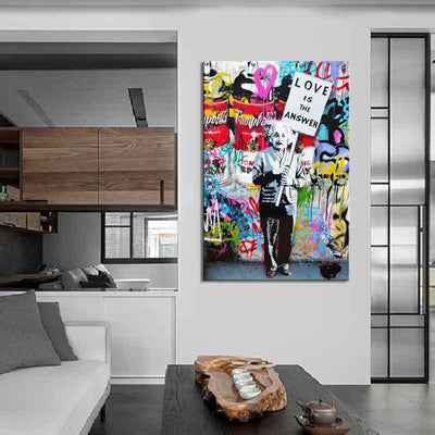 Love Is The Answer Canvas Prints Muurvulling.nl