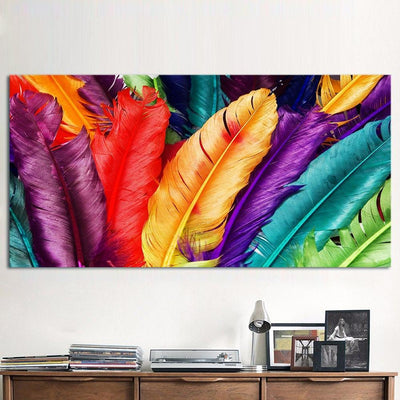 Explosion of Feathers Canvas Prints Muurvulling.nl