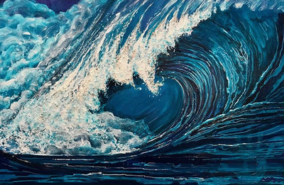 The Wave Canvas Prints Muurvulling.nl 20x30cm