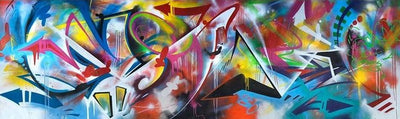 Graffiti Arrows Canvas Prints Muurvulling.nl 40x120cm