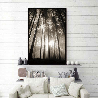 Sun in Forest canvas print Muurvulling.nl