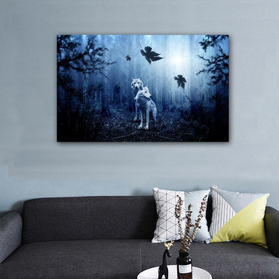 Enter the Woods Canvas Prints Muurvulling.nl