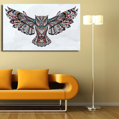 Geometrical Owl Canvas Prints Muurvulling.nl