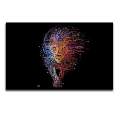 Abstract King Canvas Prints Muurvulling.nl 20x35cm