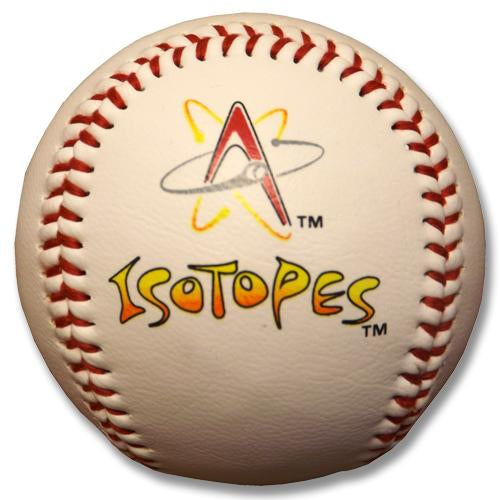 Albuquerque Isotopes Ball-White Logo