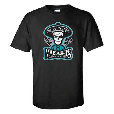 Albuquerque Isotopes Tee-Mariachis Teal Logo Primary