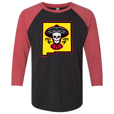 Albuquerque Isotopes Tee-Mariachis Sleeve Raglan Red