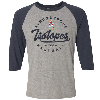 Albuquerque Isotopes Tee-Takesh Raglan