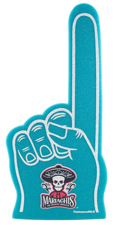 Albuquerque Isotopes Foam-Mariachis Teal Hand