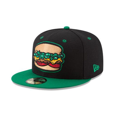 Albuquerque Isotopes Hat-Green Chile Cheeseburgers On-Field
