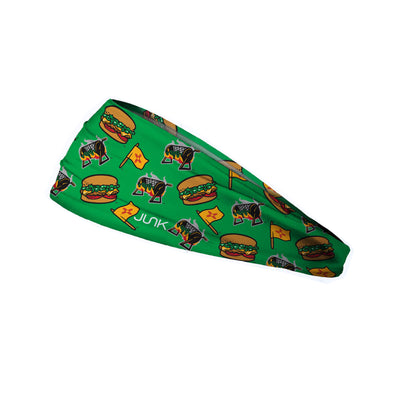 Albuquerque Isotopes Headband-Green Chile Cheeseburgers Logos