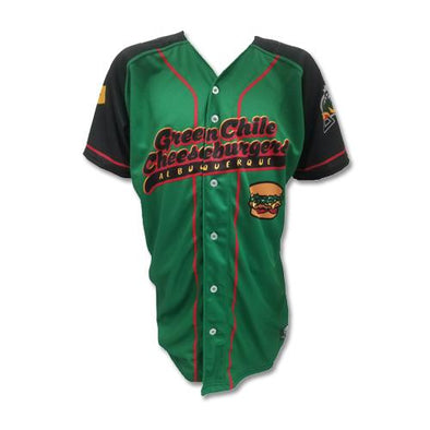 Albuquerque Isotopes Jersey-Green Chile Cheeseburgers Replica