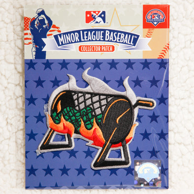 Albuquerque Isotopes Patch-Green Chile Cheeseburgers Roaster
