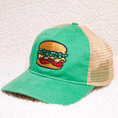 Albuquerque Isotopes Hat-Green Chile Cheeseburgers Tea Stain