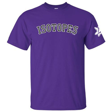 Albuquerque Isotopes Tee-Purple Jersey