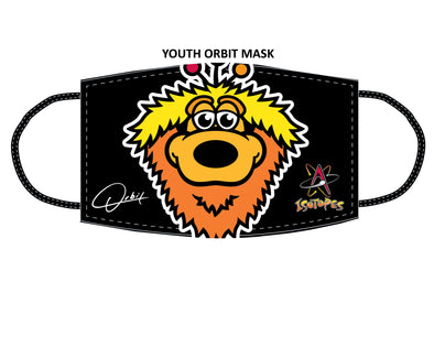 Albuquerque Isotopes Face Mask-Youth Orbit