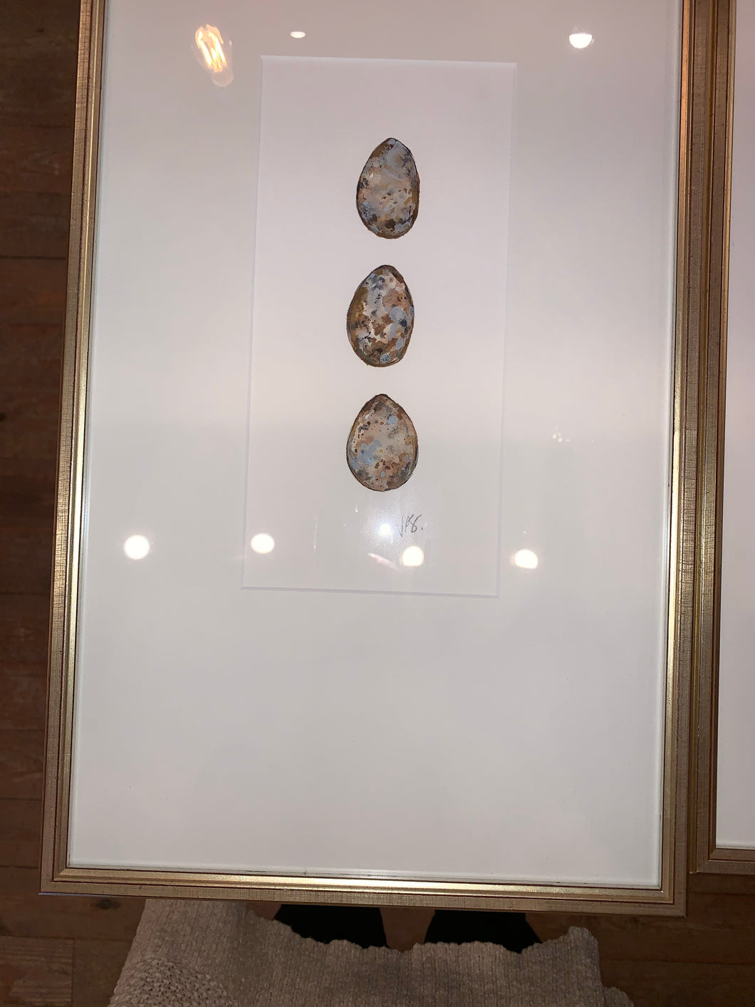 Triple Egg Framed Original by Vaughn Spanier