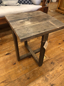 "Antique Oak End Table 21"" Sq."