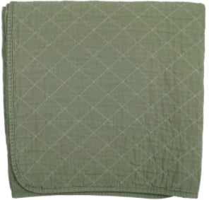 Utility Canvas Quilted Throw Blanket