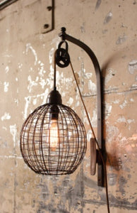 Wire Lamp with Pulley