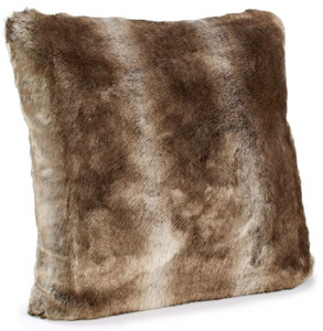 "Fabulous Fur Timberwolf Couture 18"" Pillow"