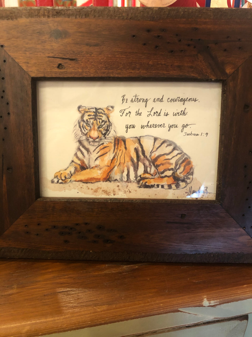 Tiger 5x7 Framed
