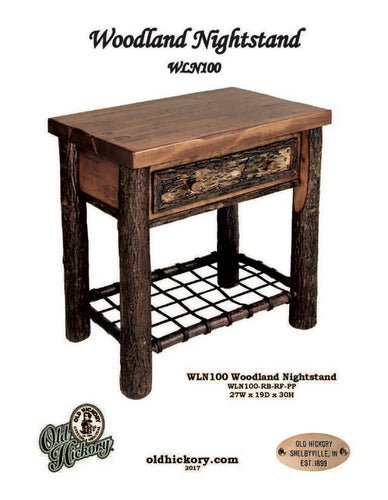 Woodland Nightstand by Old Hickory