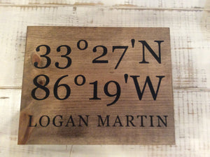 "Square Longitude Latitude 9 1/2"" x 12"""