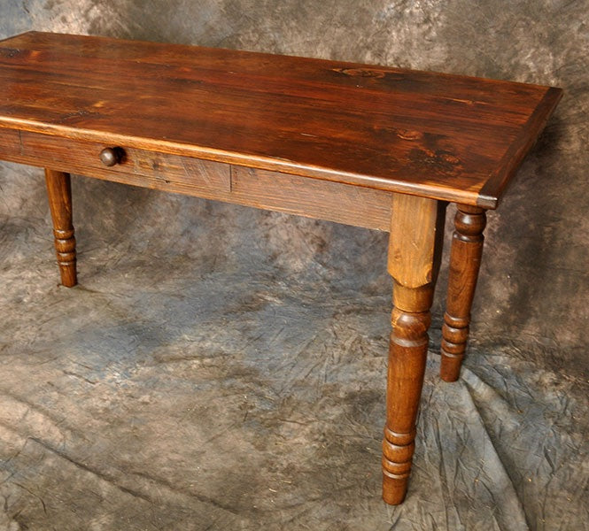 Reclaimed Pine Desk 4'