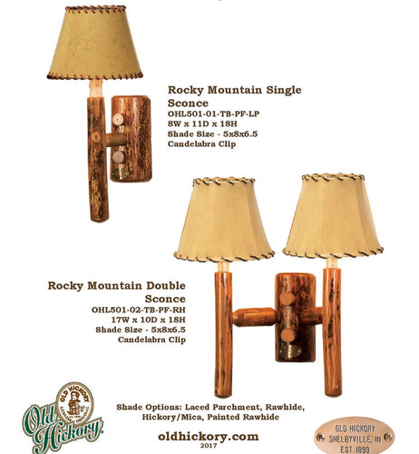 Rocky Mountain Sconce by Old Hickory