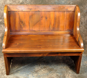 Reclaimed Pine Chapel Bench