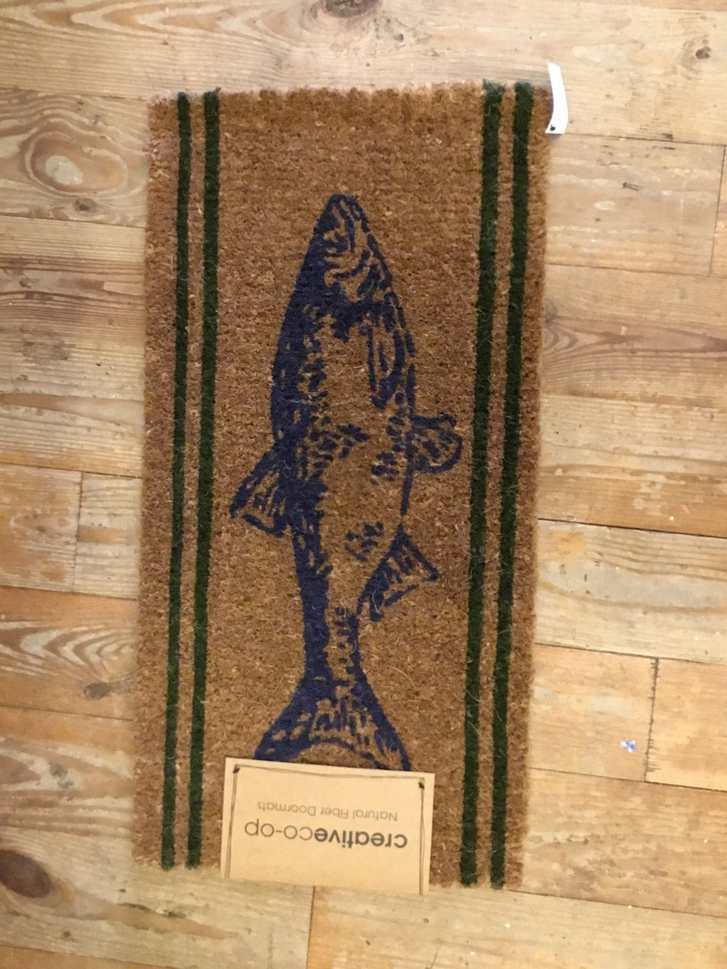 Natural Coir Doormat With Fish
