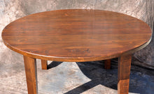Reclaimed Round Farm Pedestal Table