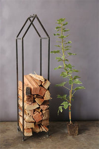 Metal House Log Holder
