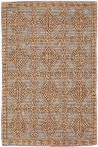 Dash and Albert Alpine Diamond Slate Wool Woven Rug