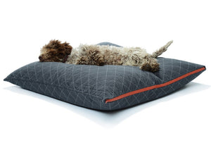 Utility Canvas Zip Sham Charcoal Dog Bed