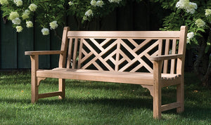 Chippendale Bench by Kingsley Bate