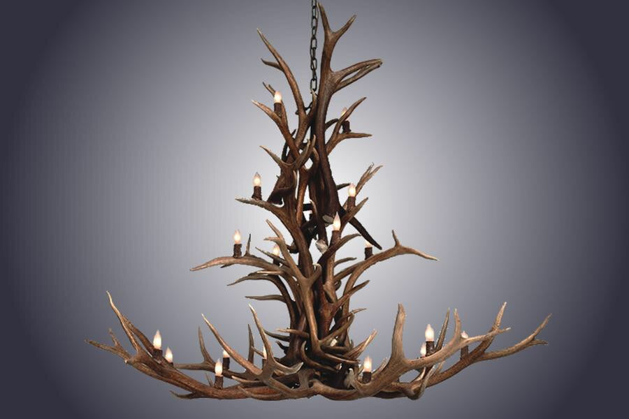 Small Elk Cascade 20 Light Chandelier