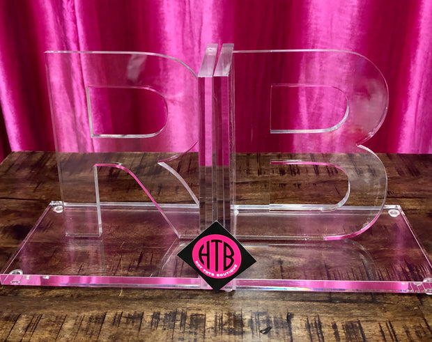 Acrylic Initial Bookends